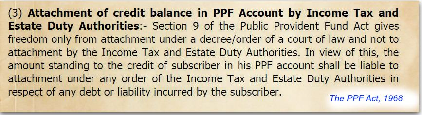 Creditor proof investments PPF no court attachement Public Provident Fund deposits pic