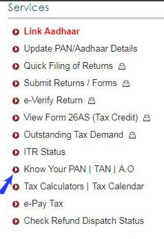 Know your PAN number status pic