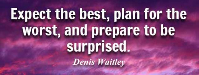 be prepared for the worst plan for the best