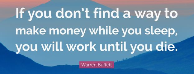 passive income Warren Buffet Quotes