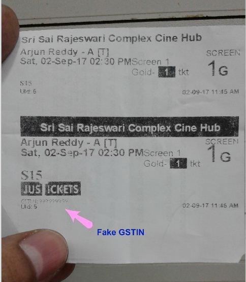 Fake GST Bills GST Receipt invalid GSTIN number
