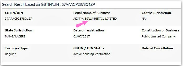 GSTIN validity check GSTIN number status check online pic
