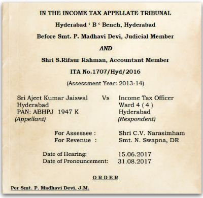 Sec 54 ITAT allows capital gain exemption despite investment in Term Deposit Account Instead of Capital Gain Scheme Account Sri-Ajeet-Kumar-Jaiswal-Vs.-Income-Tax-Officer-ITAT-Hyderabad pic