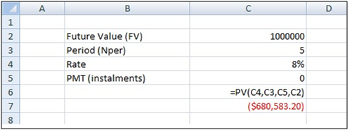 Case 5 Calculation of Present value of investment financial goal time value of money calculations