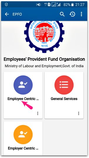 Employee centric services umang app for EPF online withdrawal