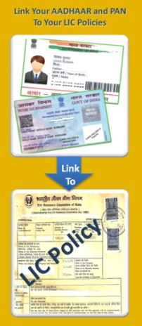 How to link aadhaar numbre to my lic insurance policy online offline procedure