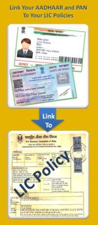 How to link aadhaar numbre to my lic insurance policy online offline procedure