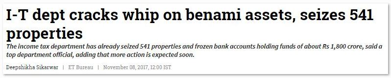 IT dept cracks whip on benami properties , seizes 541 properties bank accounts