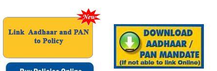 Unable to link LIC policies to aadhaar online OTP error download mandate for linking aadhaar pan offline