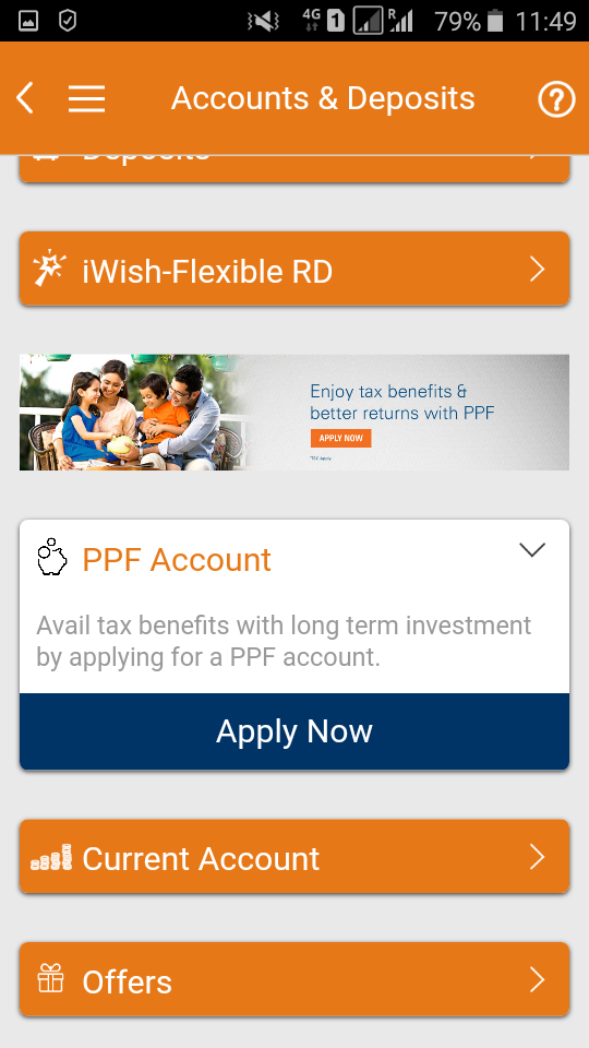 open PPF ac online instantly icici bank imobile app