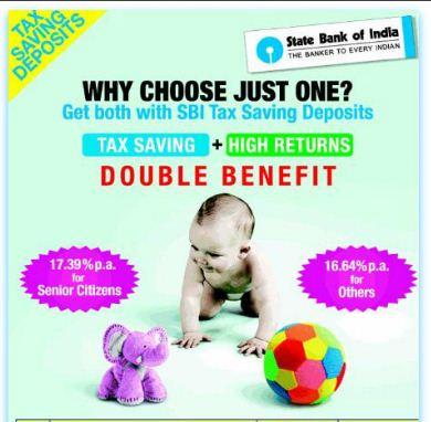SBI 5 year tax saving fixed deposits ad