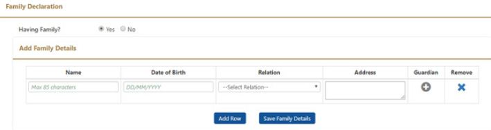 Family member declaration EPF account Nomination online