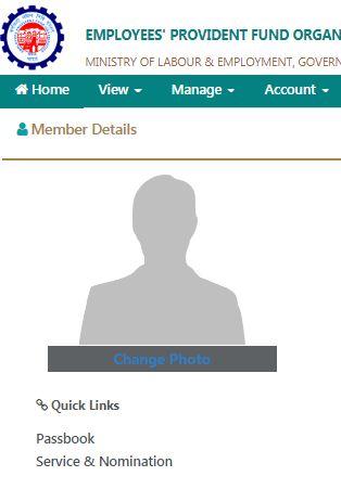 Upload photo in epf member portal for e nomination