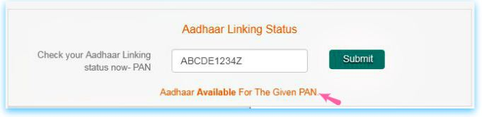 Aadhaar card linking status with Mutual funds status check online pic