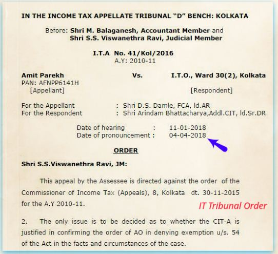 Download ITAT Tribunal order Can Capital Gains on Sale of House be used to pay Home Loan Can You Take A Home Loan And Also Claim LTCG Tax Exemption On Sale of Real estate property pic