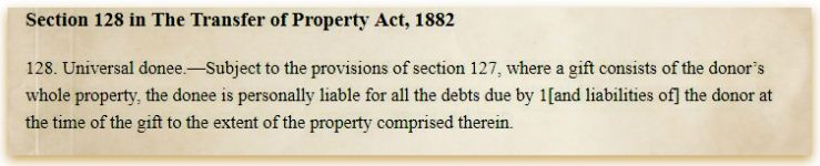 Gifting of mortgaged property section 128 of The transfer of Property Act 1882 pic