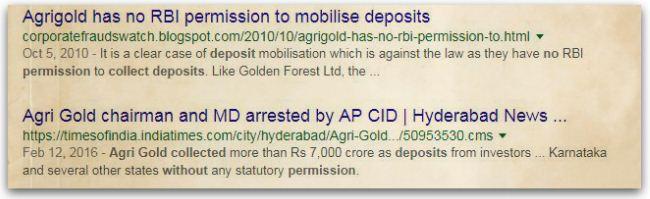 Agrigold Public Deposits scheme fraud pic