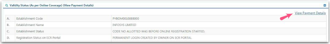 Employer's EPF contribution payment details pic