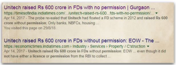 Unitech Public Deposit Scheme Fraud Collective Investment Scheme pic