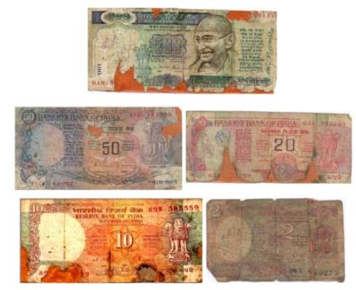 refund exchange old damaged mutilated bank notes at banks how much value can i get