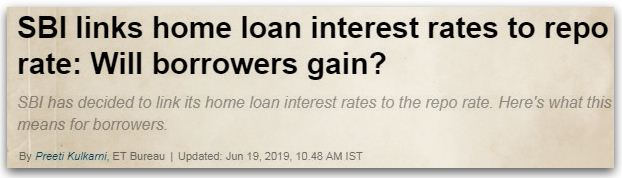 SBI home loan Repo Linked lending rate RLLR latest lending rate 2019 pic
