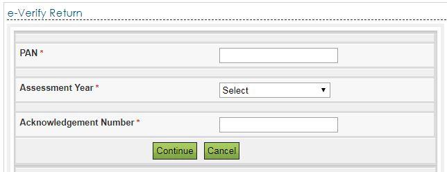 e verification of Income Tax Return online e-filing portal