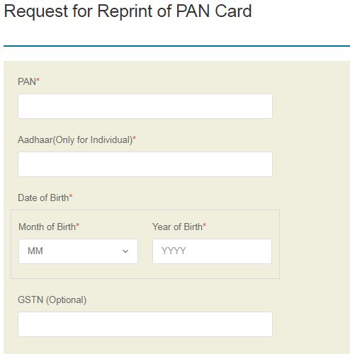 PAN card lost damaged how to get new pan card online request pan card reissue reprint nsdl portal