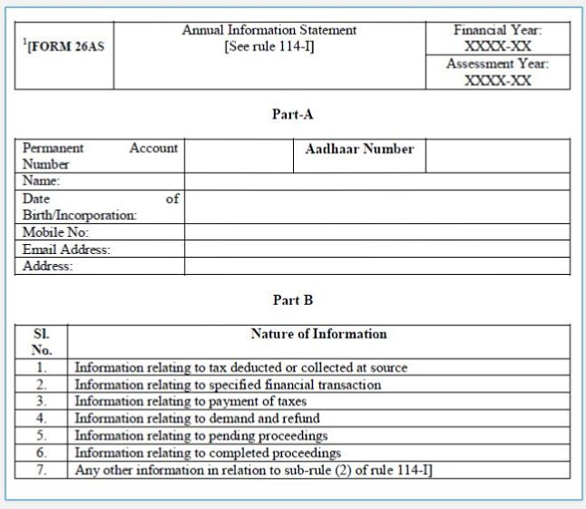 New Form 26AS Format Download Revised Form 26AS