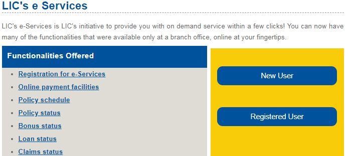 registro online do portal ONLINE novo usuário
