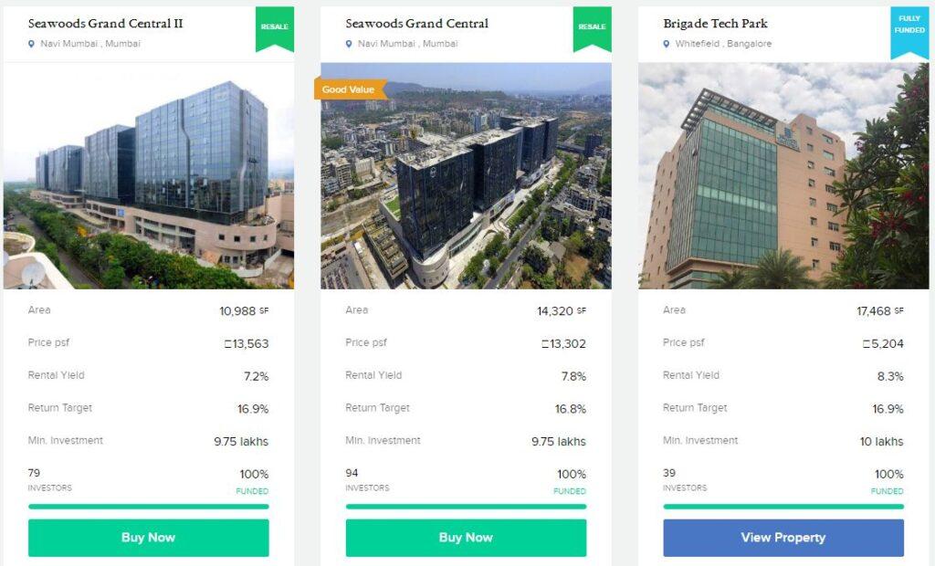 Propertyshare portal indicative rental yields return target examples