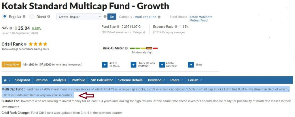 Kotak standard multicap equity fund